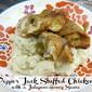 Pepper Jack Stuffed Chicken with a Jalapeño Honey Sauce
