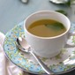 Sipping Broth with Green Curry and Lime Leaves