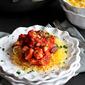 Chicken Puttanesca with Spaghetti Squash