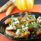 Yotam Ottolenghi's Squash with Chile Yogurt and Cilantro Sauce