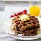 Eggless Banana Waffles