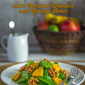 Spinach Salad with Candied Walnuts and Golden Beets