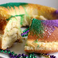 Mardis Gras King Cake (with a Cream Cheese filling)