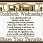 Chocolate Chip Cookie #14 and hello/goodbye Cookbook Wednesday