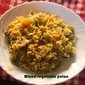 Mixed vegetable pulao or mixed vegetable rice recipe