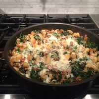 Spinach and Sausage Gnocchi
