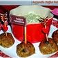 Valentine's Appetizer Menu Course 2: Mozzarella-Stuffed Pesto Meatballs Featuring Garden Gourmet Herbs #TripleSBites