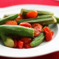 Grilled Okra Salad