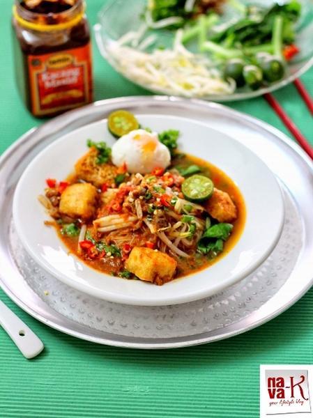 Mee Siam Kuah/Gravy (Vegetarian)