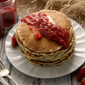Strawberry Chia Jam with Chia Seed Pancakes #bloggerCLUE