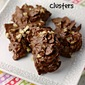 Chocolate Potato Chip Clusters