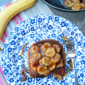 Stuffed French Toast with Banana Syrup