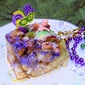 Mardi Gras 2015 {King Cake Bread Pudding and Children's Mardi Gras}