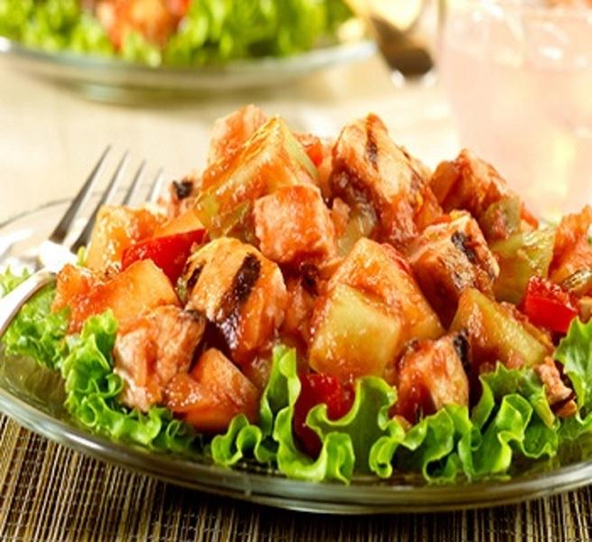 Grilled Chicken-Melon Salad