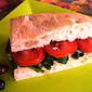 Hummus, Spinach and Tomato Sandwich