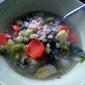 Broccoli and barley vegetable soup