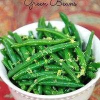 Lemon Rosemary Green Beans