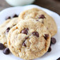 Whole Wheat Oatmeal Chocolate Chip Cookies {Made with Coconut Oil}