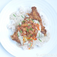 Korean-Style Country Fried Steak w Sauteed Kimchi