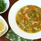 Slow Cooker (or stovetop) Lemon Chicken Orzo Soup