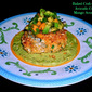 Weekend Gourmet Flashback: Baked Crab Cakes with Avocado Crema and Mango-Avocado Salsa