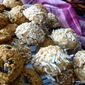 COCONUT flour ALMOND butter CHOCOLATE cookie