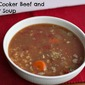 Slow Cooker Soup Recipe : Beef and Barely Soup