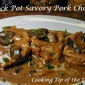 Crock Pot Savory Pork Chops