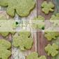 Matcha Shamrock Shortbread Cookies