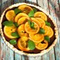 Dark Chocolate Tart with Candied Orange Slices