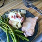 Pork Chops with Asparagus and Lemon Sauce