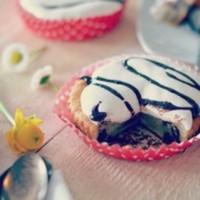 Banana Chocolate Cake with Marshmallow Cream