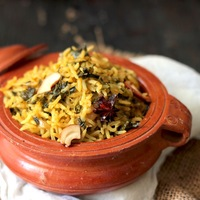 Methi Brown Rice Pulao