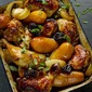 Chicken With Potatoes, Prunes And Pomegranate Molasses