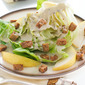 Butter Lettuce Wedges with Sunflower Seed Dressing, Pears, & Tempeh Bacon