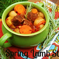 Slow Cooker Scottish Spring Lamb Stew with Rosemary, Garlic and New Potatoes