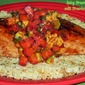 Spicy Strawberry-Glazed Fish with Strawberry-Avocado Relish...for the 2015 Healthy Solutions Spice Blends Recipe Challenge
