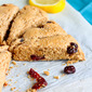 Lemon & Cherry Whole Wheat Scones Recipe