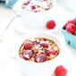 Raspberry Coconut Crème Brûlée Oatmeal