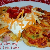 Easter/Passover Leftovers #SundaySupper...Featuring Savory Ham and Scallion Corn Cakes