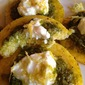 Pesto Goat Cheese Polenta Bites