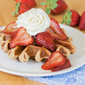 Balsamic Roasted Strawberries with Ginger-Spiced Waffles