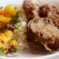 Indoor Barbecue: Kalua-Style Pork (Pressure Cooker Style) with a Pineapple-Mango Salsa