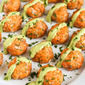 Baked Salmon Meatballs with Creamy Avocado Sauce