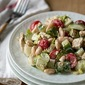 Naan fattoush with yogurt dressing