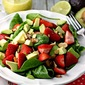 Strawberry, Avocado and Spinach Salad with Lime Poppy Seed Dressing