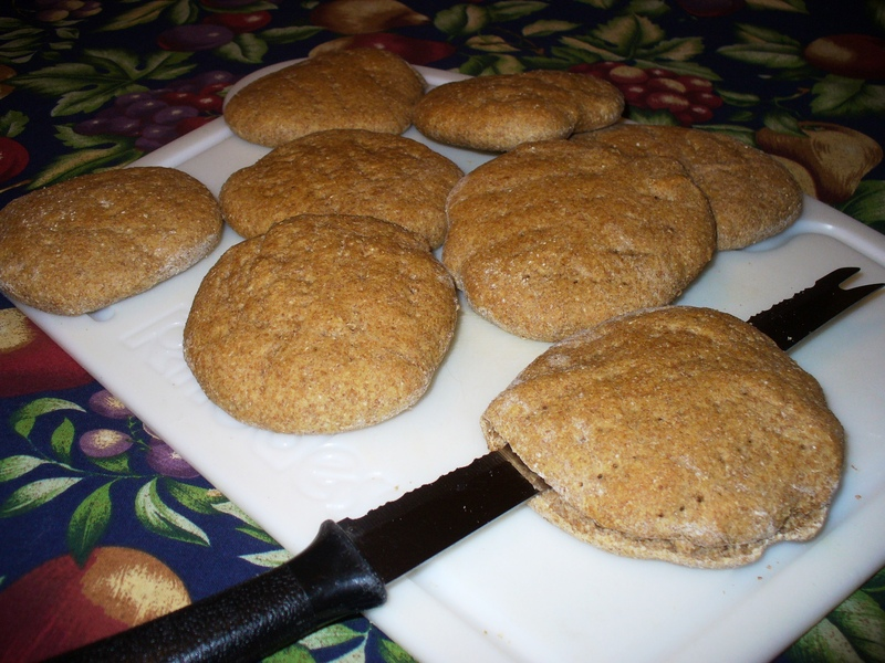 Whole Wheat Sandwich Thins (with bread machine dough option)