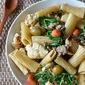 Pan-roasted cauliflower pasta