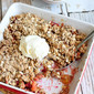 Rhubarb & Apple Crisp Recipe {Low Sugar}