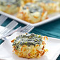 Spinach Souffle Hash brown Nests